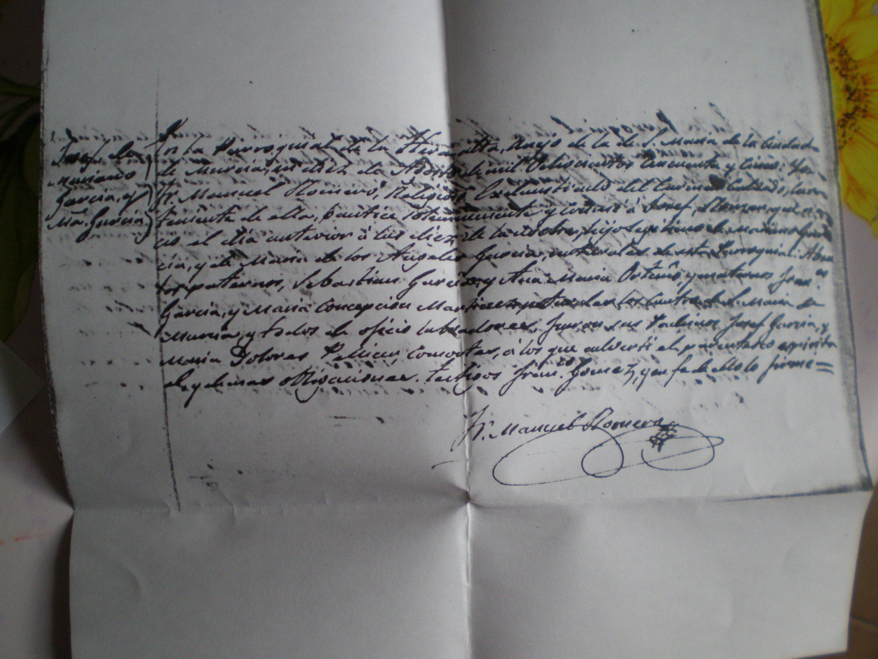 Partida de bautismo de 1855